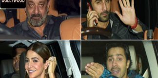 Anushkha Sharma, Varun Dhawan, Sanjay Dutt, Ranveer spooted for Screening of Sanju Movie