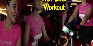 Rakhi Shawant at Jim Workout With Spivi Technology