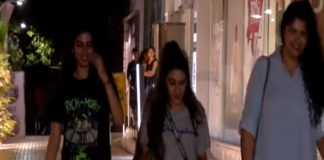 Khushi kapoor and Anshula Kapoor Visit at Juhu Pvr