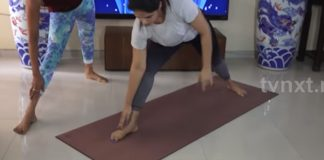 Neetu Chandra Capture During Yoga