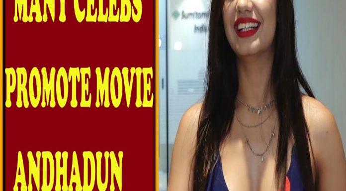 Andhadun movie promotions Nora Fatehi, Sana Khan, Karan Tacker & Sana Saeed TVNXT BOLLYWOOD