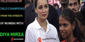 Artist Ambassador Dia Mirza Felicitates Child Champions From Streets Of Mumbai copy