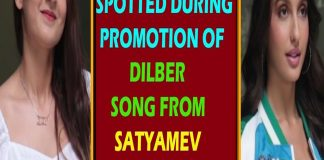 Nora Fatehi SPOTTED During Dilber SONG From Satyamev Jayte Promotion TVNXT BOLLYWOOD