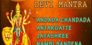 Om Durgayeni Devi Mantra