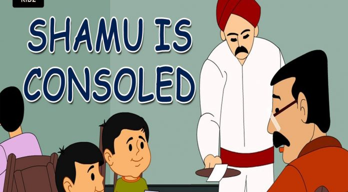 Ramu and Shamu Shamu is Consoled Comic Stories TVNXT KIDZ copy