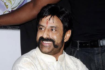 Balakrishna indian film actor with smiling