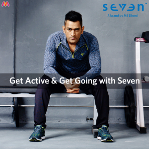 MS Dhoni with his brand Number SEVEN