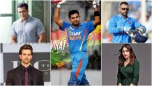 Bollywood and indian cricket team with there brands
