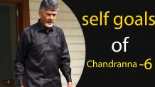 self goals of chandranna, chandra babu, self goals, tdp, cbn