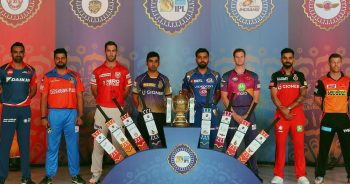 IPL Team Captains with there jersey