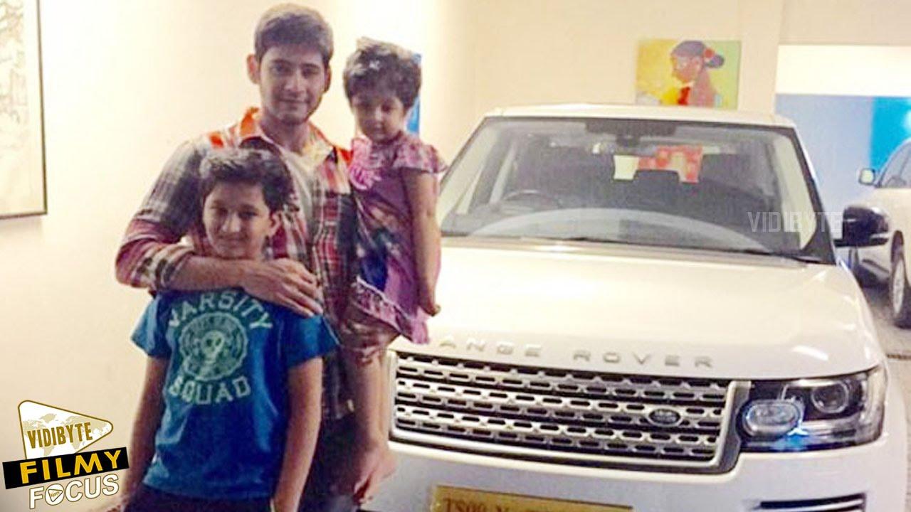 Mahesh babu indian actors with his children