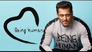 Salman Khan bollywood actor with Human Being t-shirt